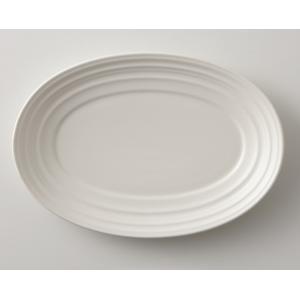 MIKASA ミカサ Swirl スワール オーバルプレート 22cm ホワイト アメリカン おしゃれ かわいい シンプル 無地 食器 洋風 陶器 ギフト プレゼント maruri-tamaki