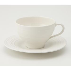 MIKASA ミカサ Swirl スワール カップ&ソーサー ホワイト アメリカン おしゃれ かわいい シンプル 無地 食器 洋風 陶器 ギフト プレゼント|maruri-tamaki