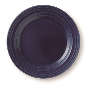 MIKASA ミカサ Swirl スワール プレート 28.7cm ネイビーブルー アメリカン おしゃれ かわいい シンプル 無地 食器 洋風 陶器 ギフト プレゼント maruri-tamaki