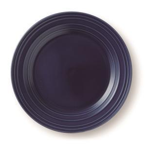 MIKASA ミカサ Swirl スワール プレート 22cm ネイビーブルー アメリカン おしゃれ かわいい シンプル 無地 食器 洋風 陶器 ギフト プレゼント maruri-tamaki