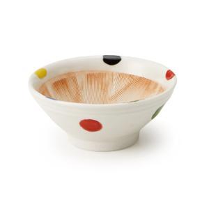すり鉢 4号 5色水玉|maruri-tamaki