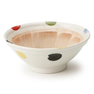 すり鉢 7号 5色水玉|maruri-tamaki