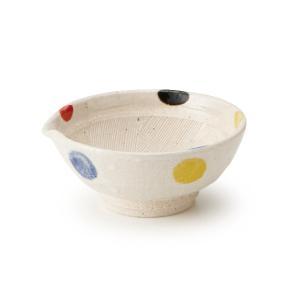 片口すり鉢 4号 5色水玉|maruri-tamaki