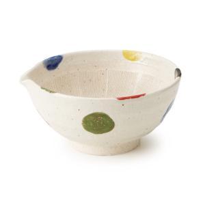 片口すり鉢 5号 5色水玉|maruri-tamaki