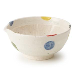 片口すり鉢 6号 5色水玉|maruri-tamaki