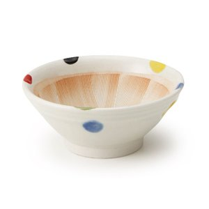すり鉢 5号 5色水玉|maruri-tamaki
