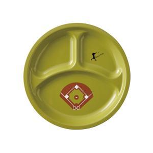 ベースボール ランチプレート 23cm ライトグリ?ン|maruri-tamaki