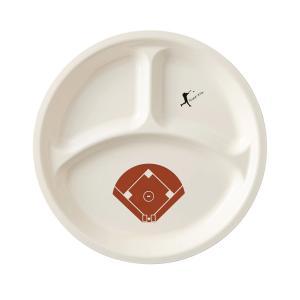 ベースボール ランチプレート 27cm ホワイト|maruri-tamaki