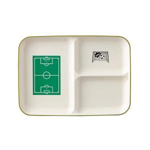 サッカー ランチプレート L  ホワイト|maruri-tamaki