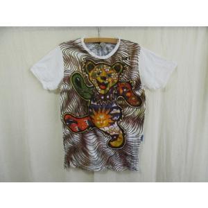 Tシャツ エスニック アジアン メンズ レディース  デッドベア ダンシングベア グレイトフルデッド