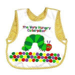 こちらは「はらぺこあおむし」のプリントがかわいいお子様用のお食事エプロンです。 首の部分はマジックテ...