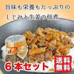 しじみ生姜 佃煮 95g 6本セット 旨味と栄養がたっぷり ご飯のお供 送料無料|marusakaisou