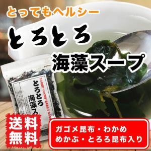 海藻スープ ポイント消化 送料無料 44g 和風スープ わかめスープ ガゴメ昆布|marusakaisou
