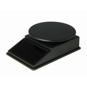 プラッツ  ソーラーターンテーブル ブラック W100×D67×H30mm (円板74mm)  PMM-5bk|marusan-hobby