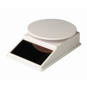 プラッツ  ソーラーターンテーブル ホワイト  W100×D67×H30mm (円板74mm)  PMM-5wh|marusan-hobby