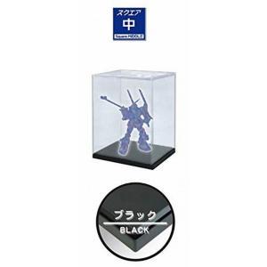 ホビーベース プレミアムパーツコレクション モデルカバー UVカット 中 ベースカラーブラック PVC製 W24×D21×H27cm (内寸) PPC-KU11BK ディスプレイケース|marusan-hobby