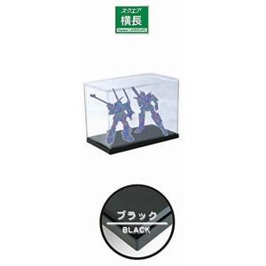 ホビーベース プレミアムパーツコレクション モデルカバー UVカット 横長 ベースカラーブラック PVC製 W28×D15×H18cm (内寸) PPC-KU12BK ディスプレイケース|marusan-hobby