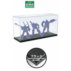 ホビーベース プレミアムパーツコレクション モデルカバー UVカット 超横長 ベースカラーブラック PVC製 W44×D15×H23cm (内寸) PPC-KU14BK ディスプレイケース|marusan-hobby
