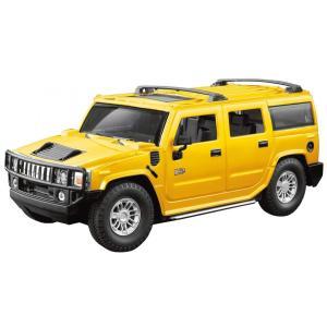 童友社 トイラジコン 2.4GHz 1/24 RCカー ハマー H2 SUV イエロー 電動ラジオコントロール 14276 marusan-hobby