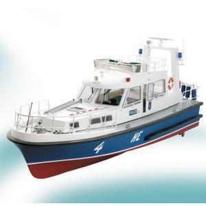 1/20 HE4 ヘッセ水上警察艇 krick20330 一体成型グラスファイバー船体組立KIT