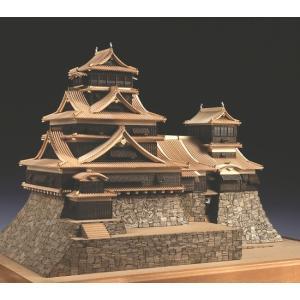 熊本城 【ウッディージョー:1/150 レザーカット加工 木製建築組立キット】|marusan-hobby