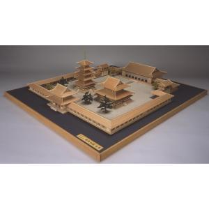 法隆寺 全景モデル【ウッディージョー:1/150法隆寺シリーズ レーザー加工木製建築組立キット】|marusan-hobby