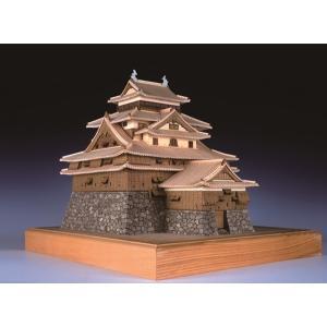 1/150 松江城 【ウッディージョー:1/150 レーザー加工木製建築組立キット】|marusan-hobby