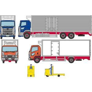 予約受付中!トミーテック ザ・トラックコレクション 豊洲 冷凍トラック・ターレット式場内運搬車セット...
