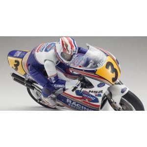 ハングオンレーサー ホンダNSR500 1991  京商 34932 1/8 R/C 電動バイク組立キット|marusan-hobby