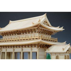 1/150 知恩院 三門 【ウッディージョー: 木製建築組立キット】|marusan-hobby|03