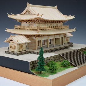 1/150 知恩院 三門 【ウッディージョー: 木製建築組立キット】|marusan-hobby|04