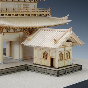 1/150 知恩院 三門 【ウッディージョー: 木製建築組立キット】|marusan-hobby|05