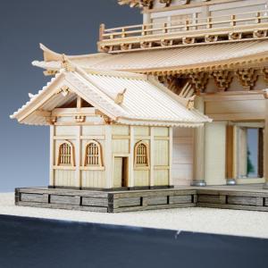 1/150 知恩院 三門 【ウッディージョー: 木製建築組立キット】|marusan-hobby|06