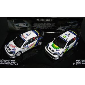 ミニチャンプス1/43 フォードフォーカス RS WRC 'DOUBLE WINNERS RALLY MEXICO 2-CAR-SET|marusan-hobby