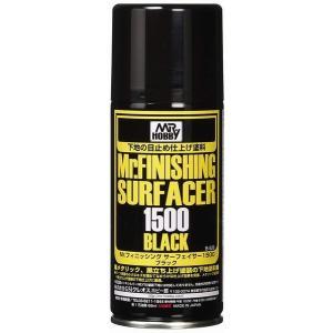 GSIクレオス Mr.フィニッシングサーフェイサー 1500 ブラック スプレー 170ml ホビー用仕上材 B526|marusan-hobby