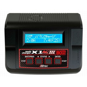 NEW!マルチチャージャー X1 AC プラス III   ハイテック   バランサー内蔵・オールマイティ多機能充・放電|marusan-hobby