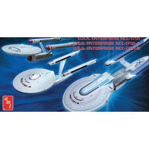 AMT スタートレック 1/2500 エンタープライズ3隻セット NCC-1701/NCC-1701A/NCC-1701B|marusan-hobby
