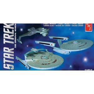 予約受付中!AMT1/2500 映画スタートレックI&II 宇宙艦3隻セット|marusan-hobby