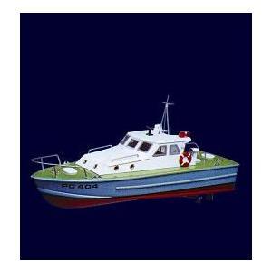 M404 巡視艇 〔KNK 木製ミニボートキット〕|marusan-hobby
