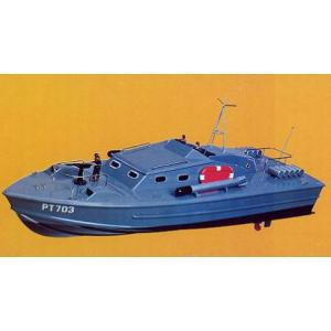 PT 703 魚雷艇  【R・Cボート KNK 木製組立キット】 marusan-hobby