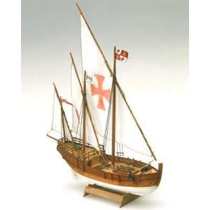 MM15 1/106 『ピンタ』 (サンタマリアの随行船)  【ミニマモリmamoli:木製帆船組立キット】|marusan-hobby