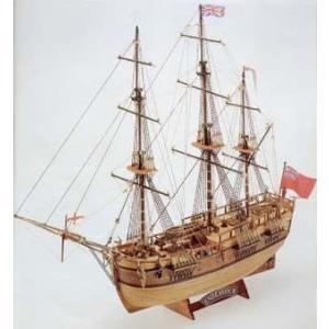 1/100 エンデバー(1768英国/キャプテン・クックで有名) マモリ:MV47 (21747) 【マモリ 木製帆船組立キット】|marusan-hobby