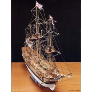 1/100 HMSバウンティ(小)(18世紀バウンティの反乱で有名) マモリ:MV52【木製帆船組立...