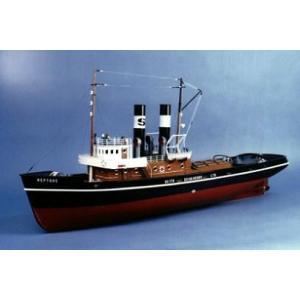 1930年代のヨーロッパ型で、2本煙突と2軸推進が特徴で、実物感溢れるスチーム・タグボート。 全長...