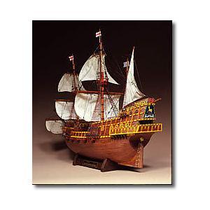 1/50 ゴールデンハインド【ウッディージョー 木製帆船組立キット】|marusan-hobby