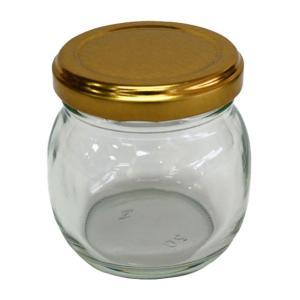 【商品説明】 丸型のガラス製の瓶です。 はちみつを入れたり、ジャムを入れたり使い方は色々。 ナッツの...