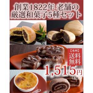 和菓子 ギフト 5種 詰め合わせ お試しセット 天皇陛下御献上菓 栗 どら焼き スイートポテト 最中