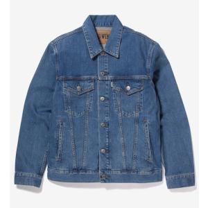 EDWIN ET1087-98 ベーシックデニムジャケット/淡色ブルー|maruseru