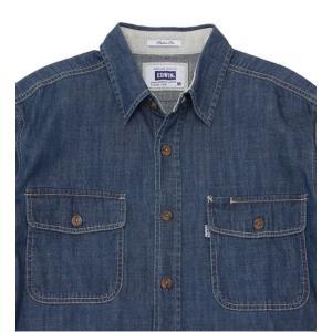 EDWIN デニム 長袖ワークシャツ ET2001-193|maruseru