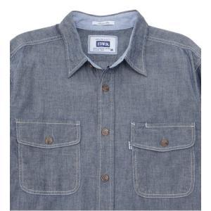 EDWIN シャンブレー 長袖ワークシャツ ET2001-200|maruseru